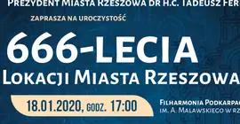 666-lecie Lokacji Miasta Rzeszowa