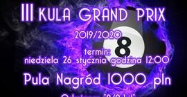 Turniej Bilardowy Kula Grand Prix 2019/2020