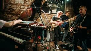 Jazzowy sekstet w klubie Bohema