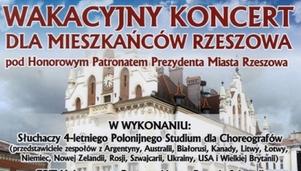 Wakacyjny koncert dla mieszka�c�w Rzeszowa